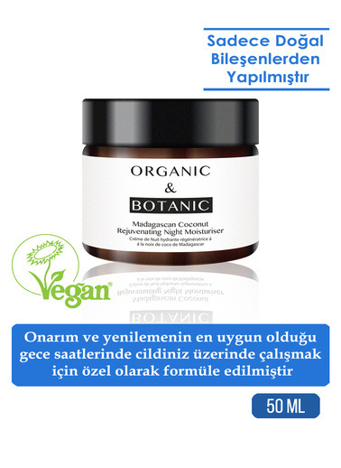Organic ORGANIC BOTANIC GECE KREMİ GENÇ.MADA.HİN.C.50ml Renksiz